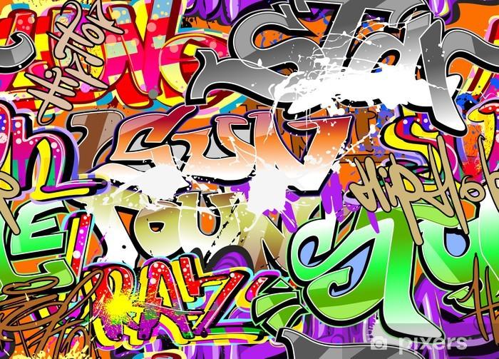 Graffiti urban art seamless background Vinyl Wall Mural - Themes