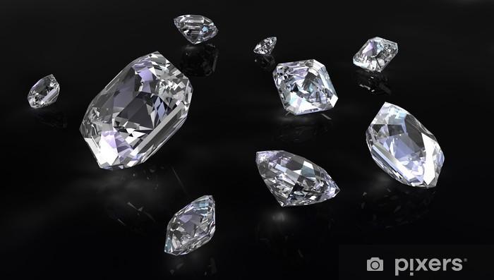 Naklejka Pixerstick Kilka cięcia diamentów Asscher - Znaki i symbole