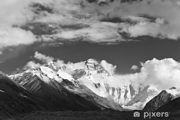 Fototapeta winylowa Tybet: mount everest w czerni i bieli - Azja