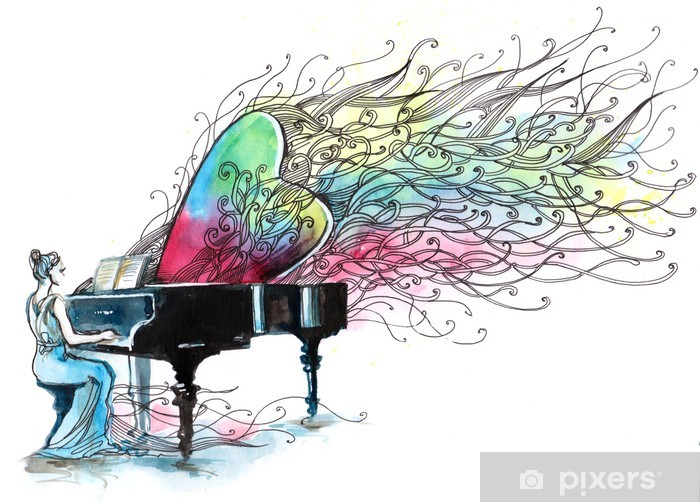 Papier peint vinyle Musique pour piano (série C) - Divertissements