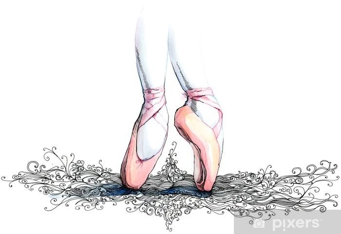 Naklejka Pixerstick Balet tancerz (seria C) - Sztuka i lifestyle