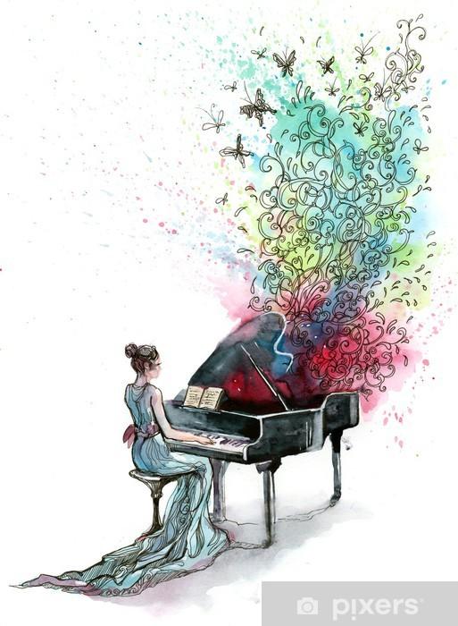 Papier peint vinyle Piano musique (série C) - Jazz