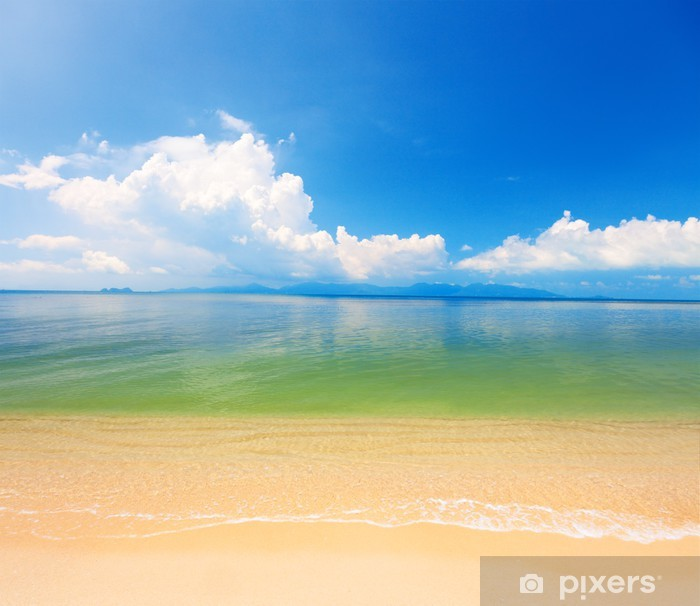 Fototapeta winylowa Plaża i tropikalne morze. Koh Samui, Tajlandia - Woda