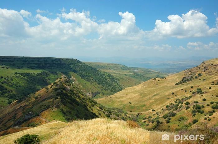 Vinyl-Fototapete Israelische Nationalpark Gamla Festung an der Golanhöhen - symbo - Naher Osten