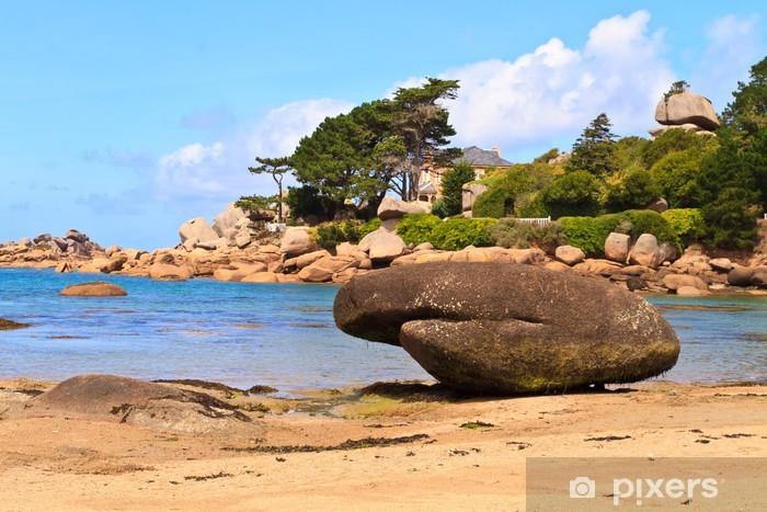 Fotomural Estándar Costa de Granito Rosa, Bretaña Costa, cerca de Ploumanach, Francia - Vacaciones