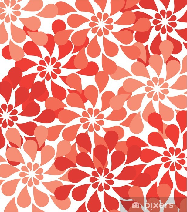 Sticker Pixerstick Vector Floral Background - Textures