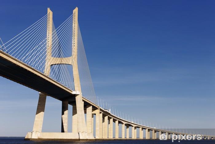 Naklejka Pixerstick Most Vasco da Gama w Lizbonie w lecie - Miasta europejskie