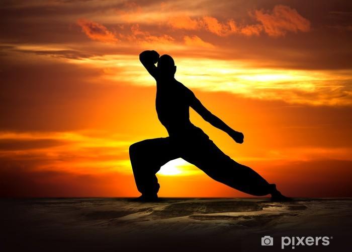 Sticker Pixerstick Martial Arts Fitness au coucher du soleil - Thèmes