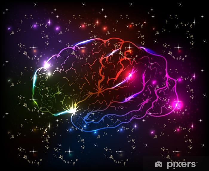 Nálepka Pixerstick Mozek bokeh abstraktní světlé pozadí - Zdraví a medicína