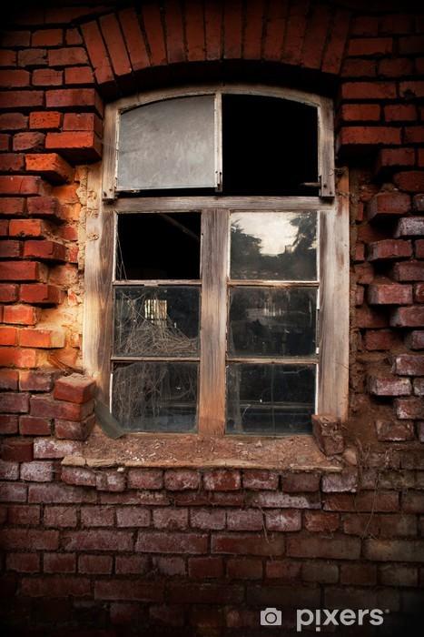 Naklejka Pixerstick Stare okno cegła - Budynki prywatne