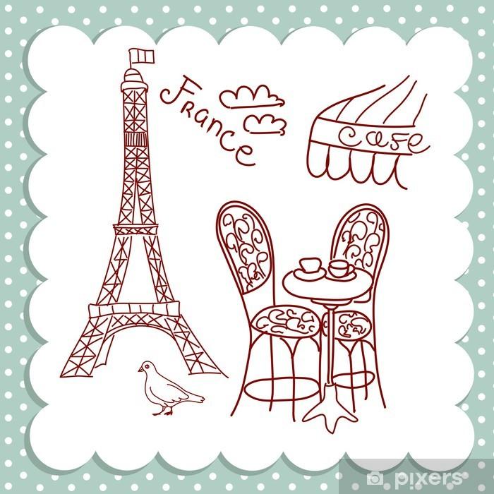 Plakat Kawiarnia w paryżu - Europa
