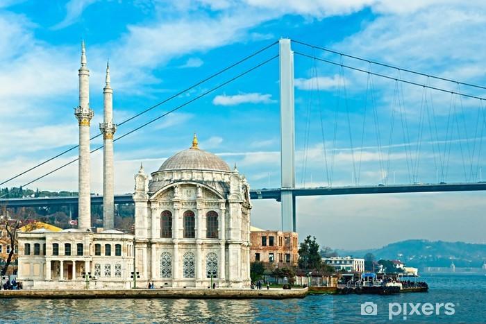 Fototapeta samoprzylepna Ortakoy meczet i Bosphorus Bridge, Istambuł, Turcja - Tematy