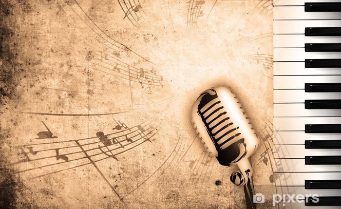 Kirli Müzik Arka Plan Duvar Resmi Pixers Haydi Dünyanızı