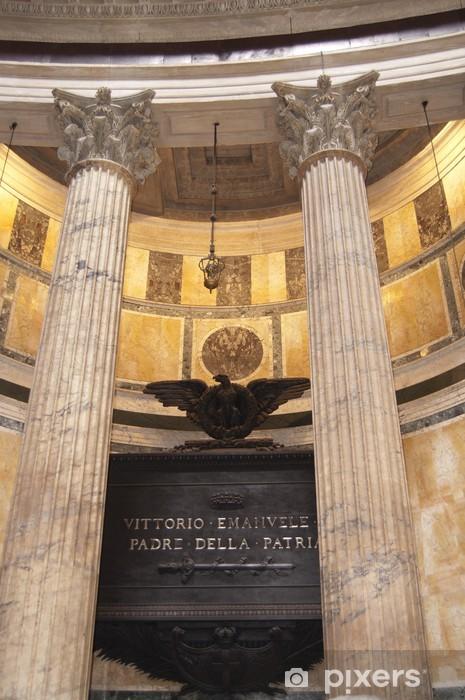 Naklejka Pixerstick Mauzoleum w Victorio Enmanual Agryppa Phanteon - Miasta europejskie