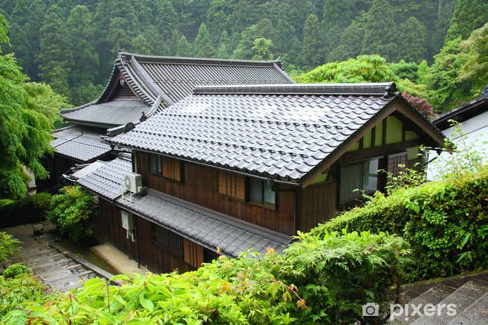 Traditional japanese house in the mountains near Kyoto Vinyl Wall Mural - Asia