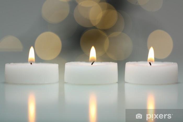 3 kerzen mit lichtreflexen Pixerstick tarra - Abstrakti