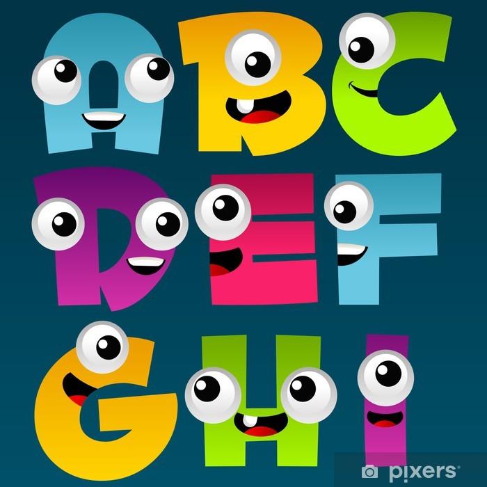 Pixerstick Sticker Alfabet Cartoon Set 1 - Thema's
