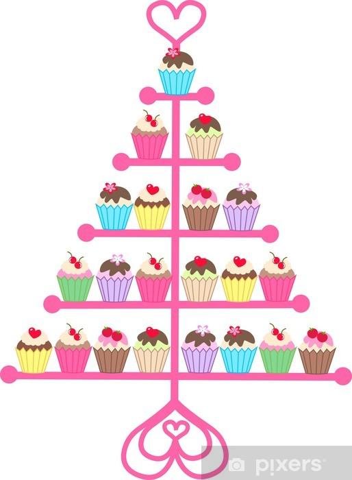 Nálepka Pixerstick Cupcakes - Sladkosti a dezerty