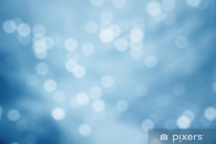 Sticker Pixerstick Sans mise au point bleu fond abstrait - Fêtes internationales
