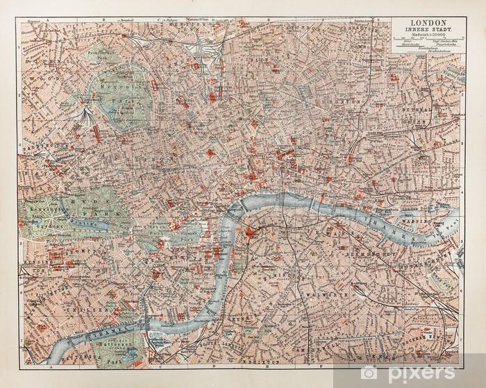 Fototapeta winylowa Vintage map of London - Akcesoria