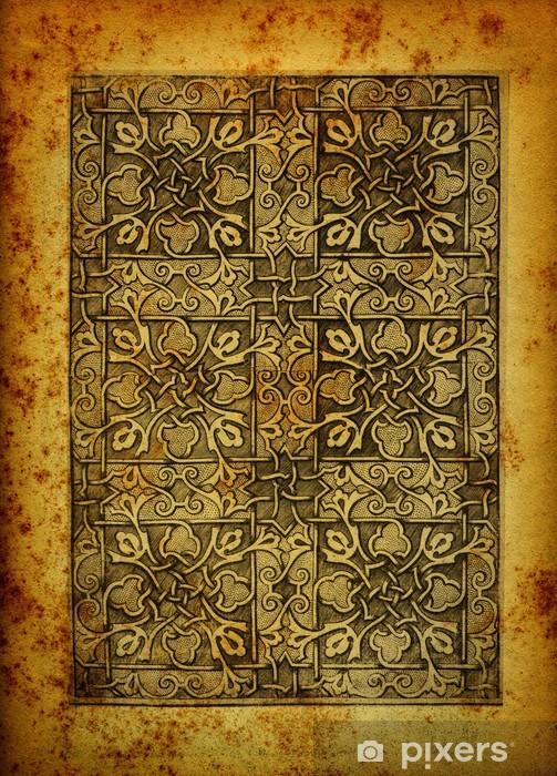 Adesivo Incisione araba su carta vintage • Pixers ...