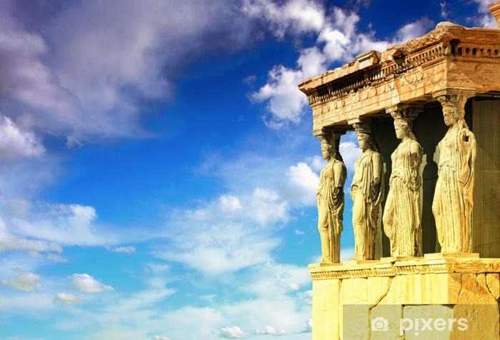Vinyl Fotobehang Kariatiden, Erechtheion tempel Akropolis - Stijlen