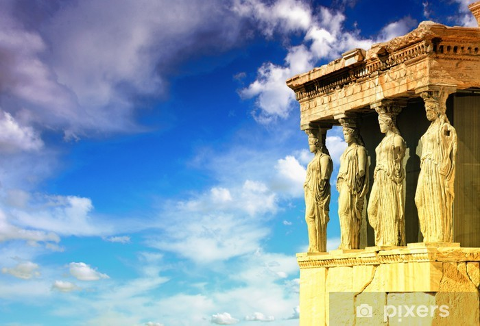 Vinyl-Fototapete Karyatiden, Erechtheion Tempel Akropolis - Stile