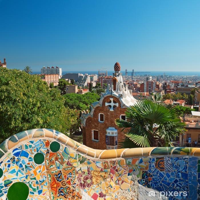 Papier peint vinyle Guell parc barcelone espagne - Thèmes