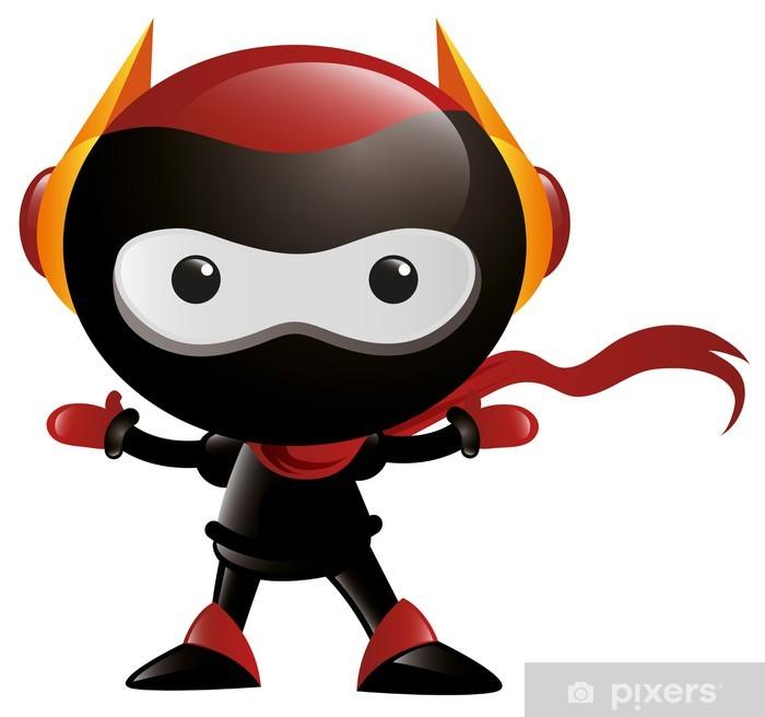 Naklejka Pixerstick Robot Ninja Arms Szeroki - Naklejki na ścianę