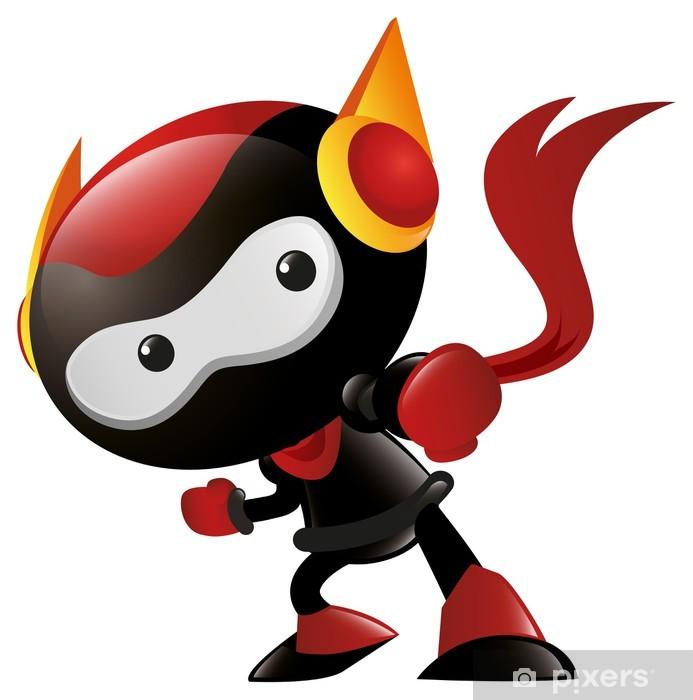 Naklejka Pixerstick Robot Ninja dziurkacz - Inne uczucia