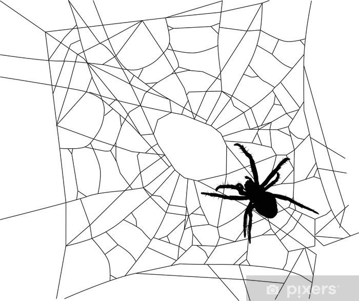 Nálepka Pixerstick Malou izolovanou pavouk na web - Ostatní Ostatní