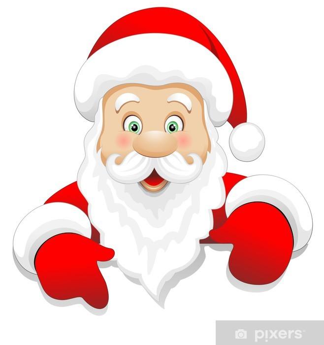 Adesivi Babbo Natale.Adesivo Babbo Natale Cartoon Auguri Santa Claus Message Vector Pixers Viviamo Per Il Cambiamento