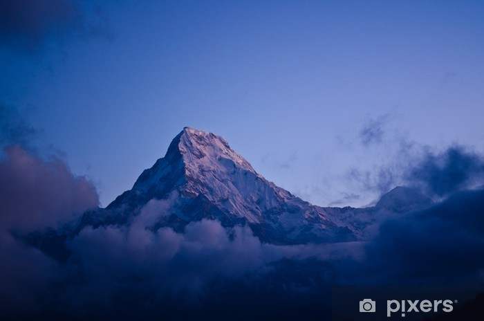 Sticker Pixerstick Annapurna pointe sud - Sports d'extérieur