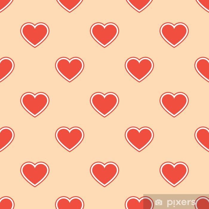 Papier peint vinyle Motifs de tissus cardiaques - Fêtes internationales