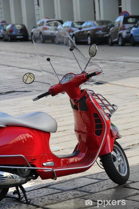 Aufkleber Red Roller Mit Italienischen Flagge Pixerstick