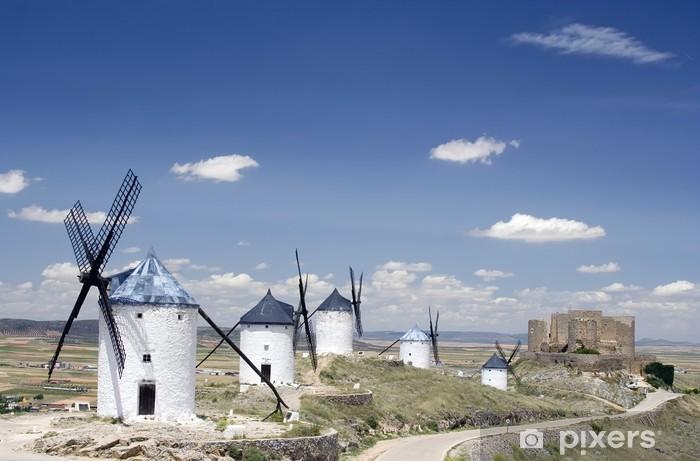 Fototapeta winylowa Wiatraki i zamek Consuegra - Miasta europejskie
