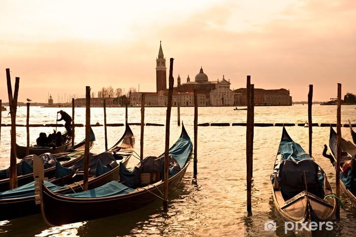 Venice, View of San Giorgio maggiore from San Marco. Vinyl Wall Mural - Themes