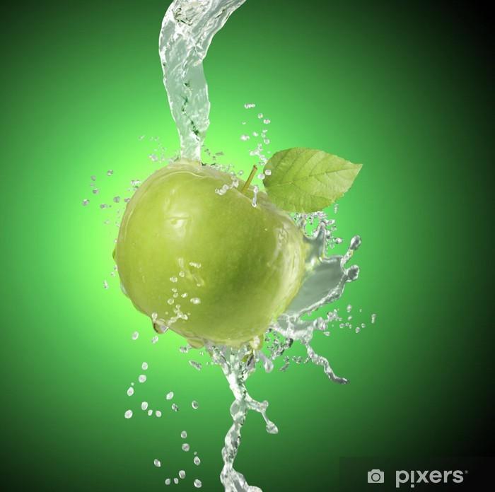 Naklejka Pixerstick Jabłko spada głęboko pod wodą - Posiłki