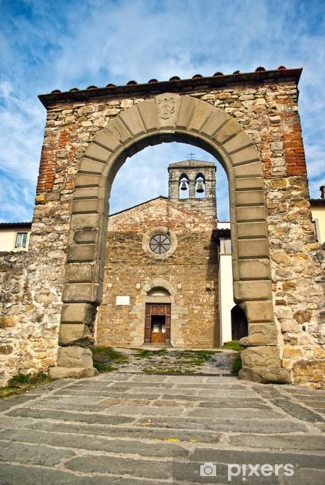 Papier peint vinyle Toscana, Casentino: l'antica Chiesa di Certomondo un 2 Poppi - Vacances