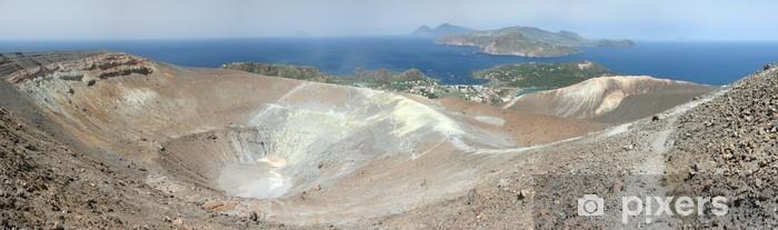 Carta da Parati in Vinile Vulcano cratere - Meraviglie della Natura