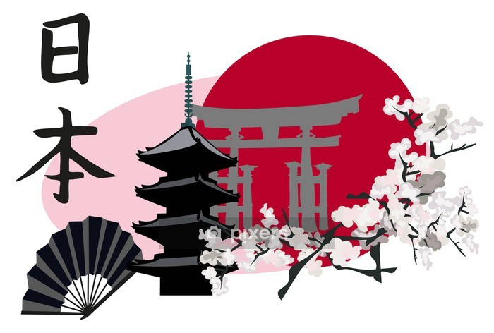 Japanese Symbols Wall Decal - Styles