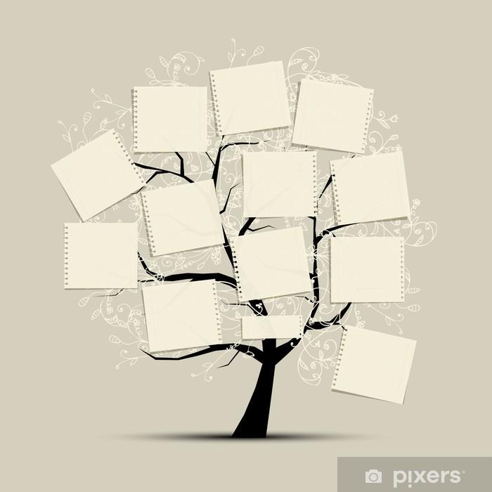 Naklejka Pixerstick Drzewo sztuki z referatów do tekstu - Czas