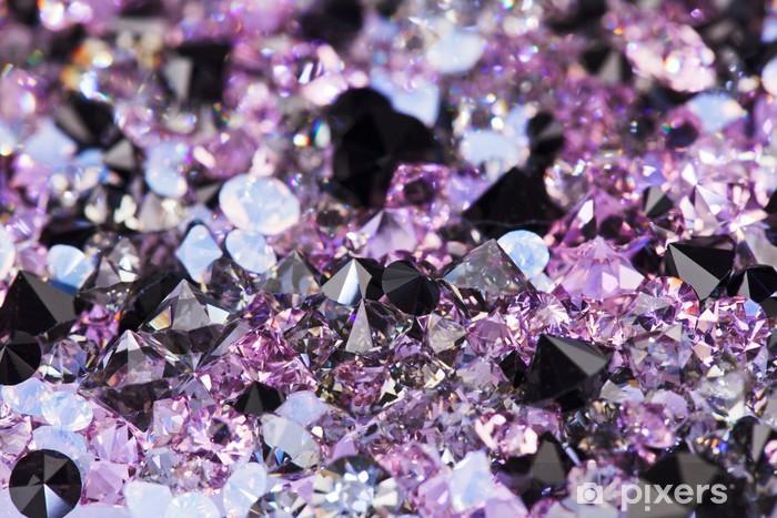 Sticker Pixerstick Petites pierres de gemme pourpre, fond luxe profondeur de fiel - Réussite