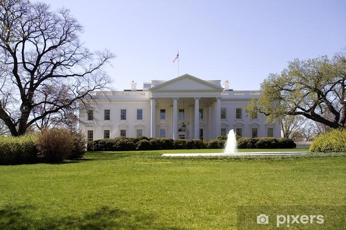 Vinyl-Fototapete Weißes Haus in Washington DC - Amerikanische Städte