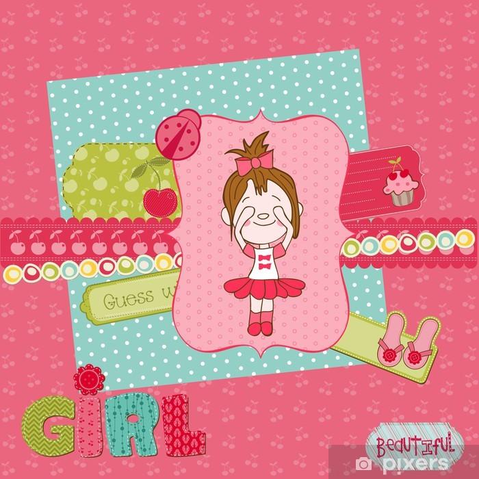 Vinyl-Fototapete Scrapbook design elements - Cute Baby Girl Set - Feste