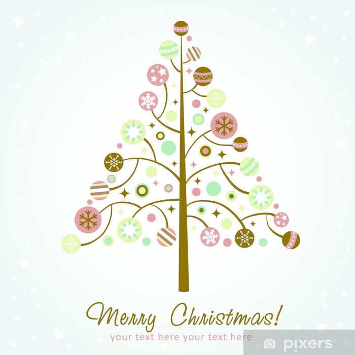 Carta Da Parati Disegno Stilizzato Albero Di Natale Pixers