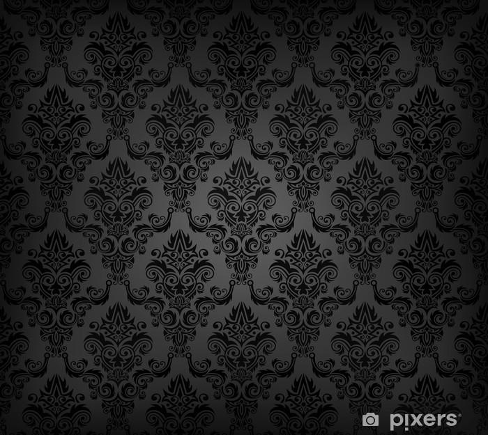 wall murals vector illustartion of black seamless wallpaper pattern.jpg