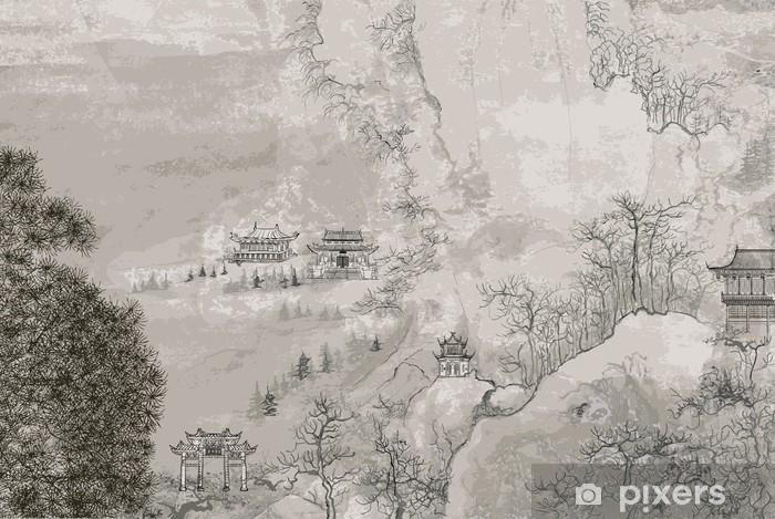 Chinese landscape Pixerstick Sticker - Styles