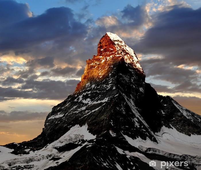 Fototapeta winylowa Wschód słońca na Matterhorn - Europa