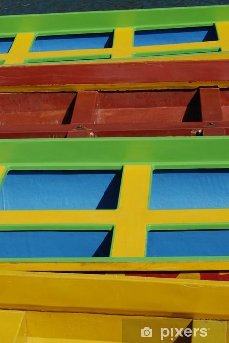Sticker Pixerstick Kayak coloré - Autres sentiments